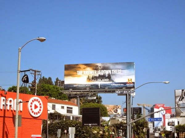 Curse Oak Island season t2 billboard