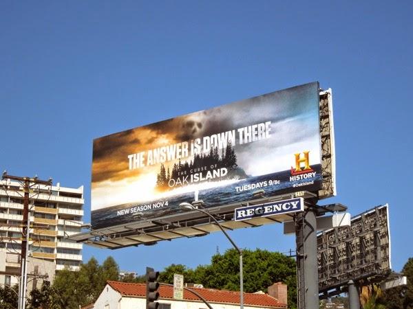 Curse Oak Island season2 billboard