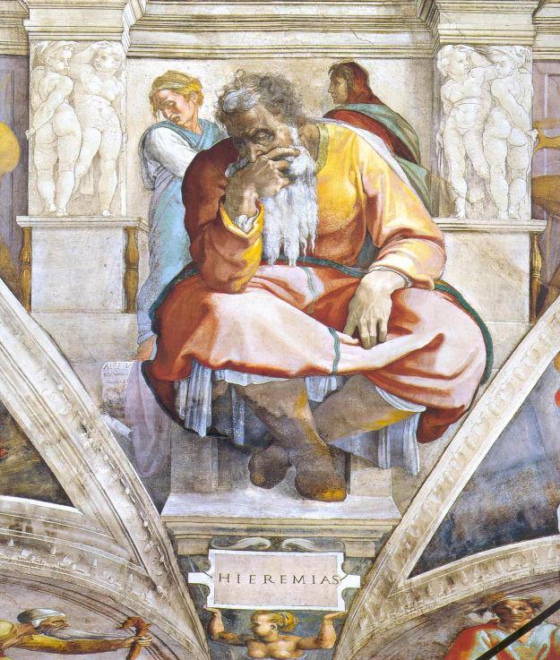 Пророк_Иеремия,_Микеланжело_Буонаротти