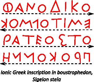 greek boustrophedon
