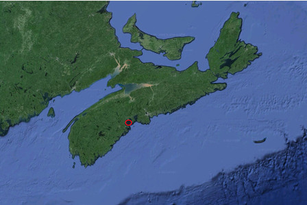 Google Earth view of Oak Island, Nova Scotia.  Ancient mariners visited the New World more than a thousand years before Columbus - according to a sensational new report.  See NTI story NTIAMERICA.  The main findings of the study, centres on the mysterious Oak Island, off Nova Scotia, where a team of expert researchers reckon they have unearthed astonishing evidence that Roman ships visited North America in antiquity - 'during the first century or earlier' and long before Columbus landed in 1492.  The discoveries could cast new light on the mystery of Oak Island which is currently the focus of a centuries-old treasure hunt centering on a 230ft deep booby-trapped shaft known as the 'money pit'.  Historic investigator J. Hutton Pulitzer, has put a large white paper together with a group of academics from the AAPS (Ancient Artifact Preservation Society).  He claims to have evidence of a Roman sword found submerged just off Oak Island - and what is believed to be a Roman shipwreck.  Pulitzer says this sword is '100 per cent confirmed' and described it as the 'smoking gun' to his theory.