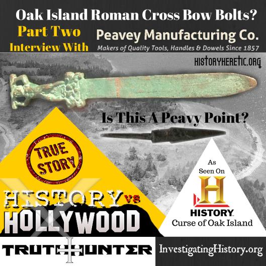 Peavy Oak Island Roman Cross Bow Bolts-