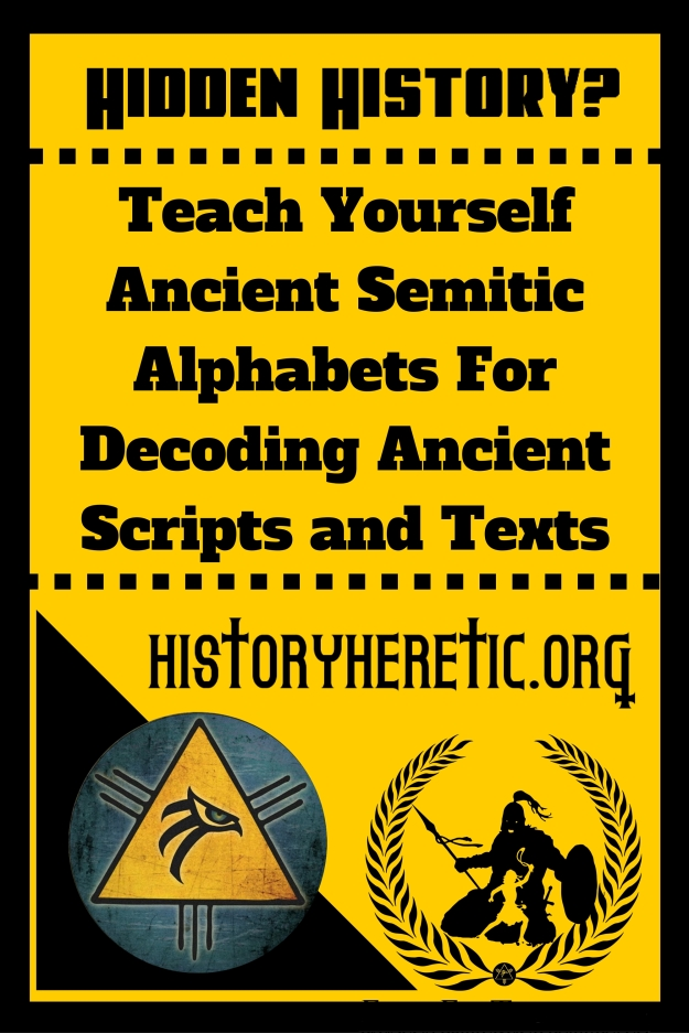 Teach YourselfAncient Semitic Alphabets For Decoding Ancient Scripts and Texts